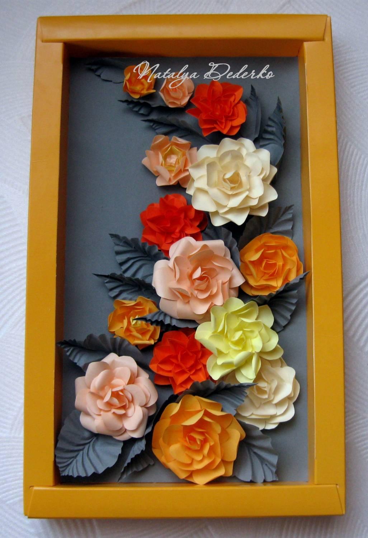 Бумажные цветы картины 153